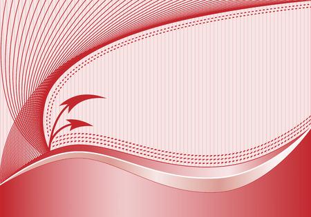 Abstract background avec des lignes ondulées de décoration élégante, des flèches courbées, fond rayé subtile et d'espace pour ajouter votre propre texte.