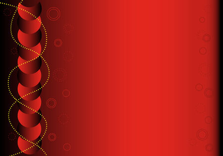 Red and black abstract background with decorative festive elements and copy space for text