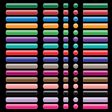 oblongs: Web buttons collection in assorted colors, shapes and sizes