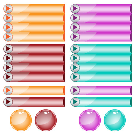 oblongs: Web buttons assorted colors and shapes Illustration