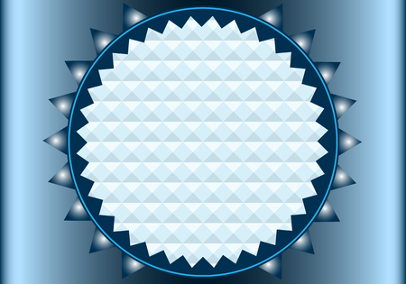 Blue shiny abstract background with triangles and copy space for text Stock Vector - 6653521