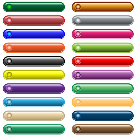Web buttons in 20 shiny assorted colors, scalable.