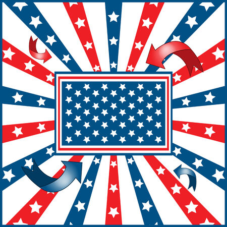 American flag background with stars and stripes symbolizing 4th july independence day Stock Vector - 7152172
