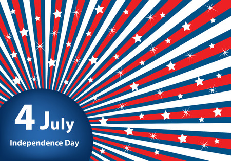 radial: American flag background colors with stars and stripes symbolizing 4th july independence day
