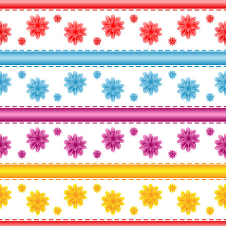 Seamless flower pattern on a white background. Stock Vector - 7757792