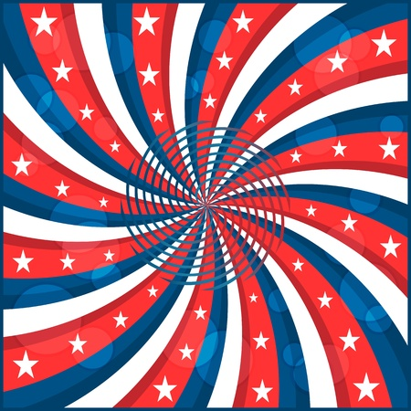 American flag background with stars and swirly stripes symbolizing 4th july independence day Stock Vector - 8719239