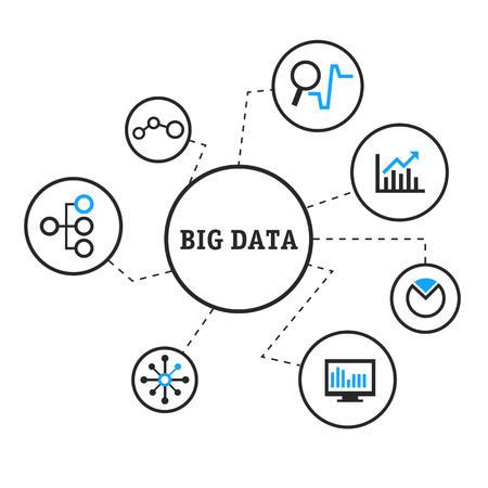 Vector illustration big data  イラスト・ベクター素材