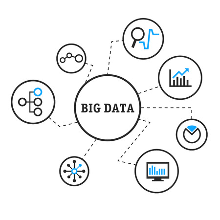 Vector illustration big data Иллюстрация