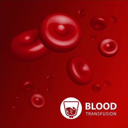 blood flow: Vector illustration of human erythrocytes of blood Illustration