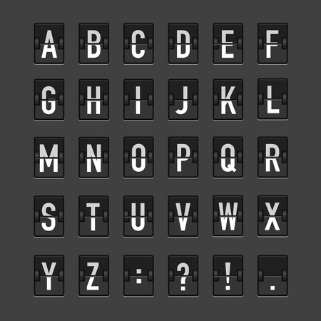 electronic board: Vector image of an electronic Board with the alphabet