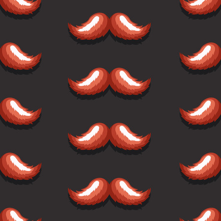 artificial hair: Vector pattern background retro mustache in an elegant style Illustration