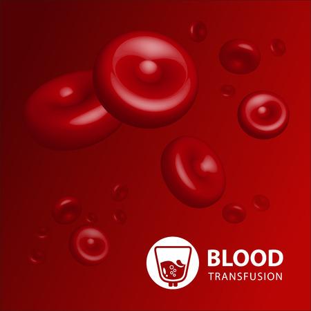 body care: Vector illustration of human erythrocytes of blood Illustration