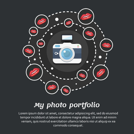 articles: Vector illustration for a photo portfolio or for articles about photography Illustration
