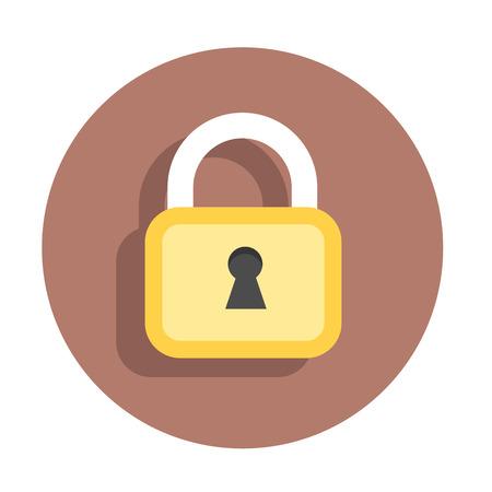 Vector flat icon lock Ilustrace