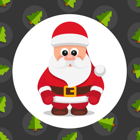 caroler: Vector flat illustration christmas Santa Claus