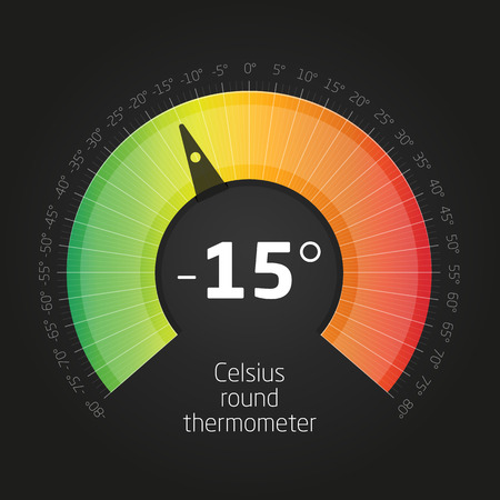 Vector Celsus Round Thermometer