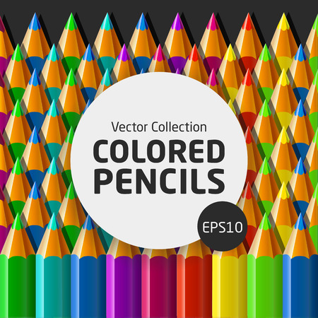 child's: Vector illustration of colored pencils