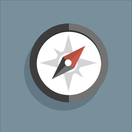 dial compass: Vector flat icon compass Illustration