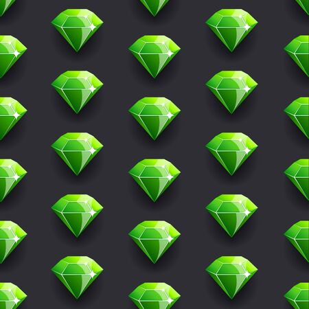 Diamond green vector pattern background Vector