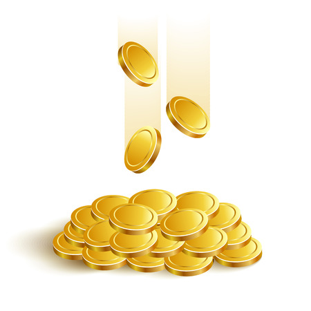 Gold Coins Vector Game Eps jackpot banking Illustration