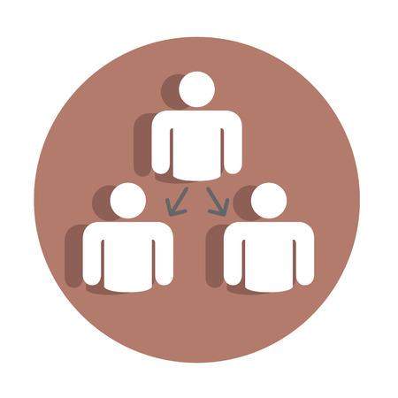 corporate hierarchy: Vector icon gerarchia aziendale