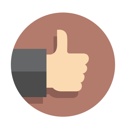 thumbs up: Vector flat icon like finger
