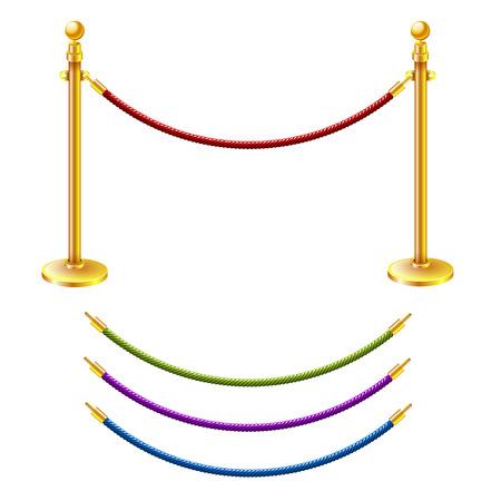 barrier rope: Vector illustration Rope barrier Illustration