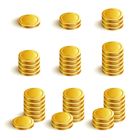 purchasing power: SetVectorIconsGoldCoins