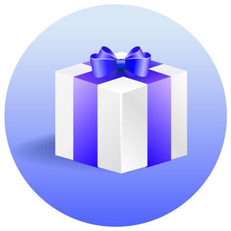 blue gift box: Vector icon blue gift box