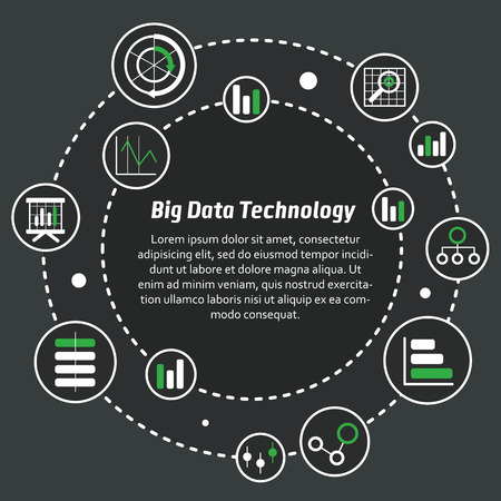 profitable: Vector illustration of big data for use on the website or in magazines