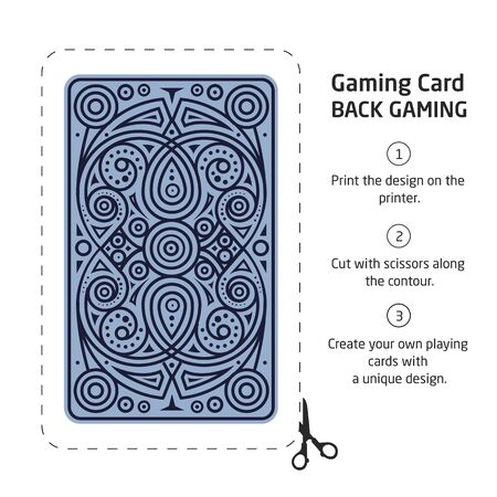 Procurement for making your own unique playing cards Vektorové ilustrace