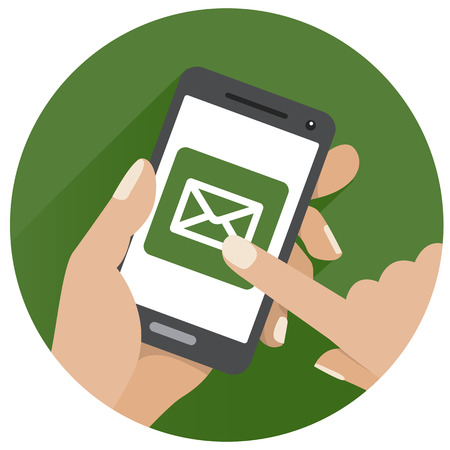 Circle Green Icon sms