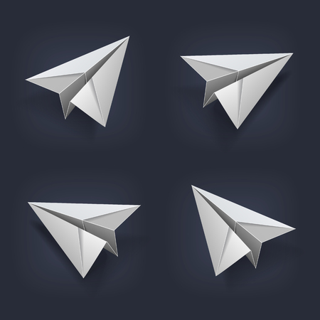 projections: image of a paper plane in 4 projections