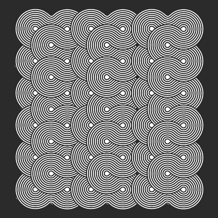 engravings: Abstract pattern of circular lines in the form of engravings