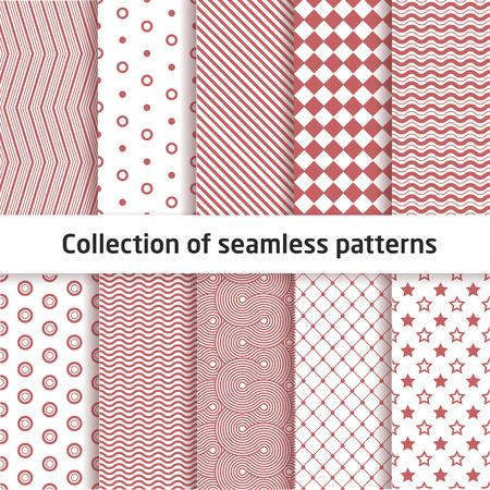 diamond shaped: Collection of seamless patterns Stock Photo