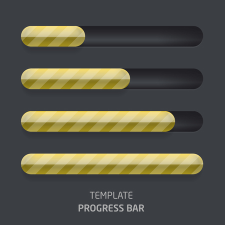 A set of progress bars in a glass tube
