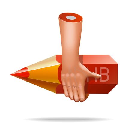 pinched: vector very realistic hand icon Illustration