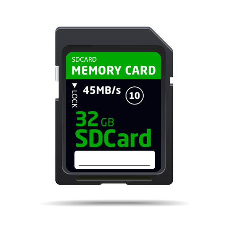 sd: vector memory sd card for various devices Illustration