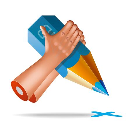 pinching: vector very realistic hand icon Illustration