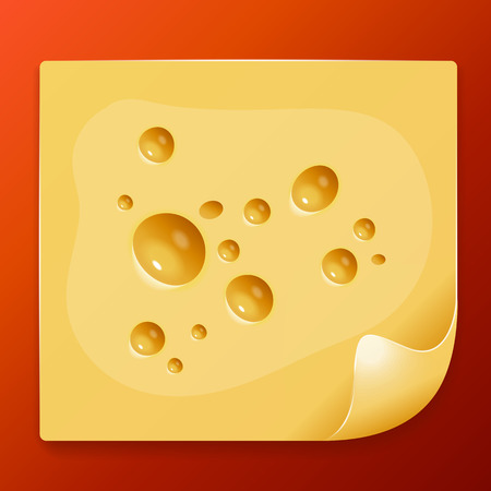 appetizing: appetizing slice of cheese image