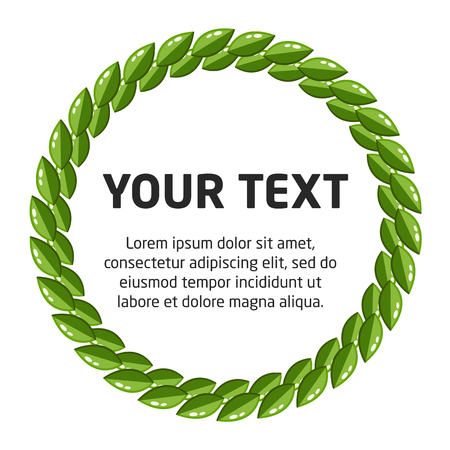 Circle Laurel Wreath Template Stock Photo, Picture And Royalty Free ...