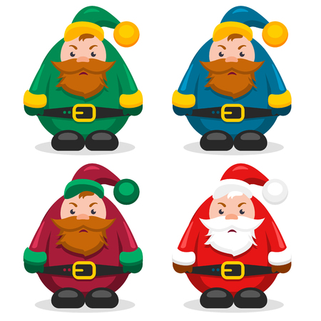 collection  old men dwarfs and Santa Claus