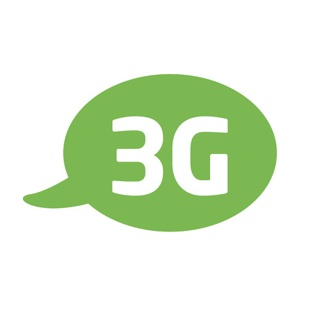 3g: vector icon with a bubble and a message