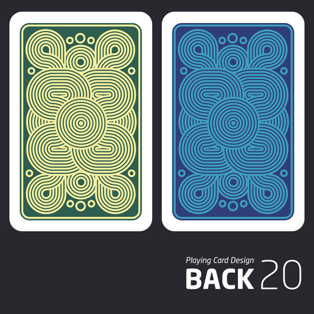 reverse side of a playing card for blackjack other game with Ilustrace