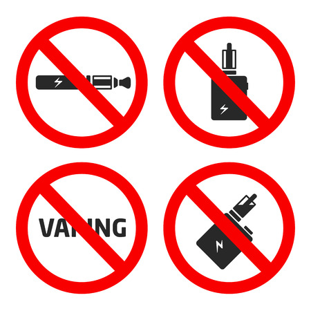 vector coollection set vaping icons 向量圖像
