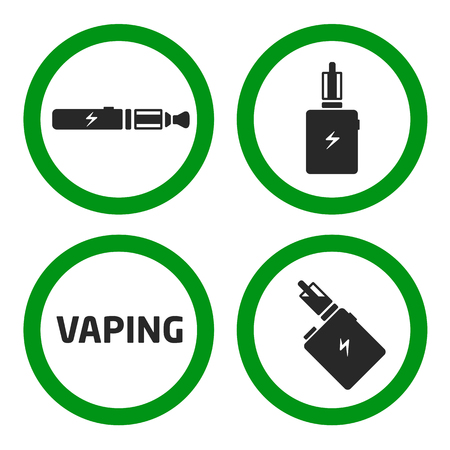 vector coollection set vaping icons Reklamní fotografie - 67774755