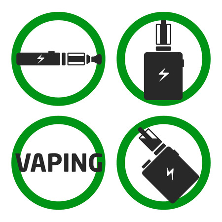 vaporized: vector coollection set vaping icons Illustration
