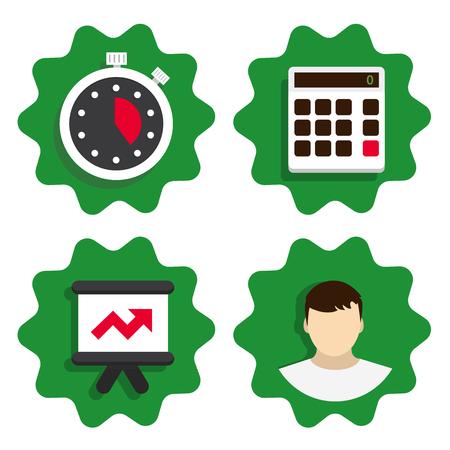 registros contables: vector  Flat icon for web design Vectores