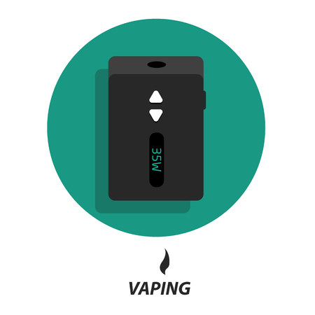 vaporize: Set collections vaping flat icons