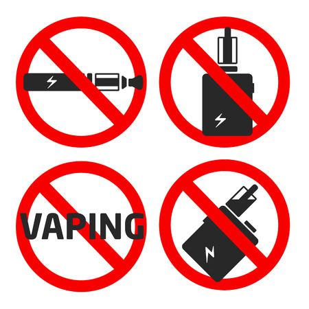 vector coollection set vaping icons